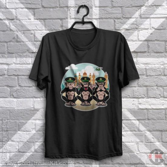 3 Wise Monkeys, Irish Guards - See, Hear, Speak no Evil T-Shirt