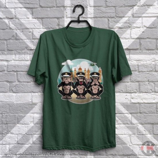 3 Wise Monkeys, Coldstream Guards - See, Hear, Speak no Evil T-Shirt