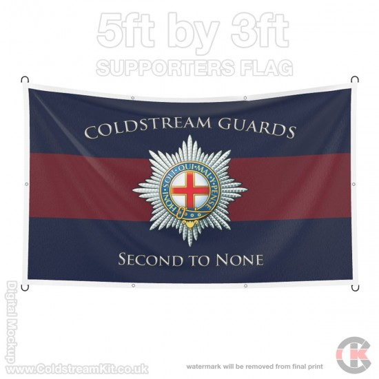 Coldstream Guards, 5ft by 3ft Supporters Flag (Military Insignia)