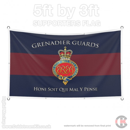 Grenadier Guards (Cypher), 5ft by 3ft Supporters Flag (Military Insignia)