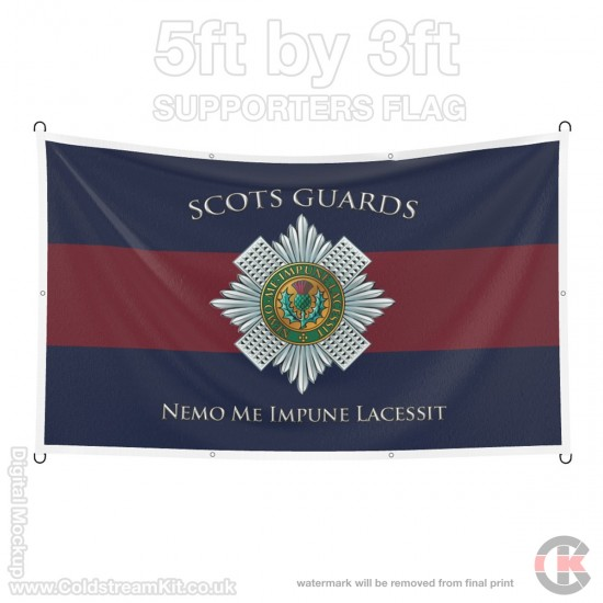 Scots Guards, 5ft by 3ft Supporters Flag (Military Insignia)