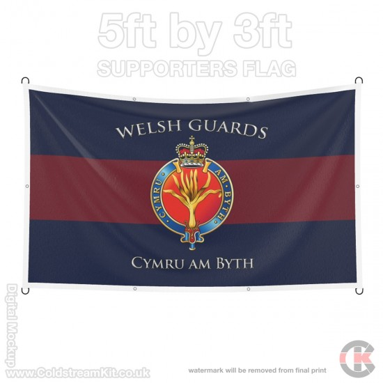 Welsh Guards, 5ft by 3ft Supporters Flag (Military Insignia)
