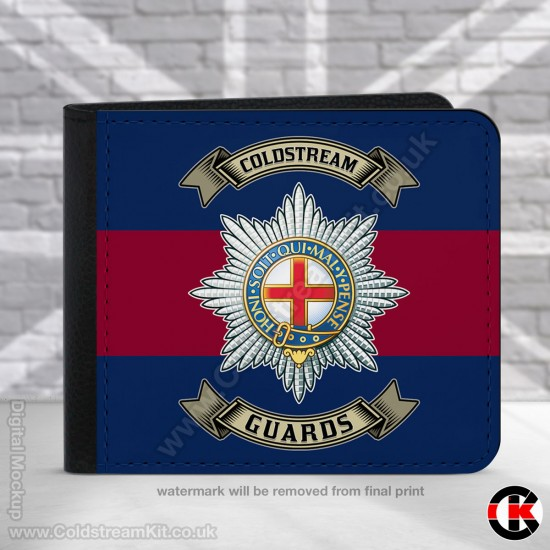 Coldstream Guards, Blue Red Blue,  2 Fold Faux Leather Wallet