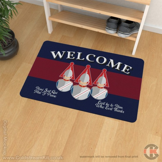 Blues and Royals Welcome Floor Mat (Bust Design)
