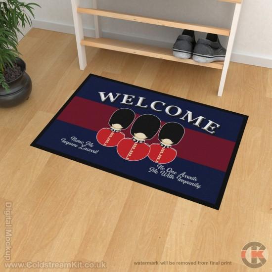 Scots Guards Welcome Floor Mat (Bust Design)