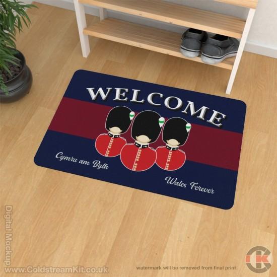 Welsh Guards Welcome Floor Mat (Bust Design)