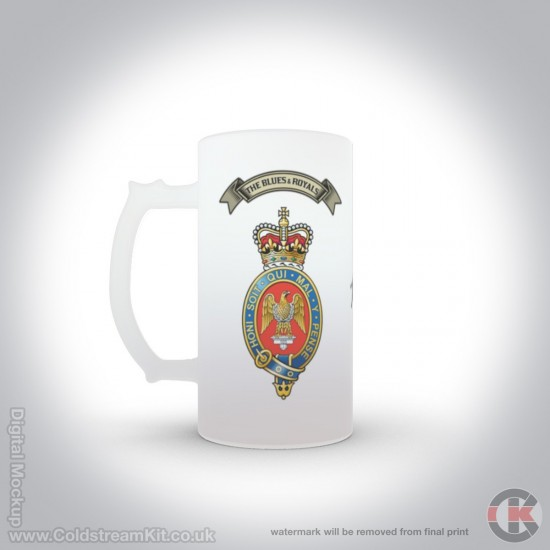 Blues and Royals 16oz Frosted Beer Stein (Military Insignia)