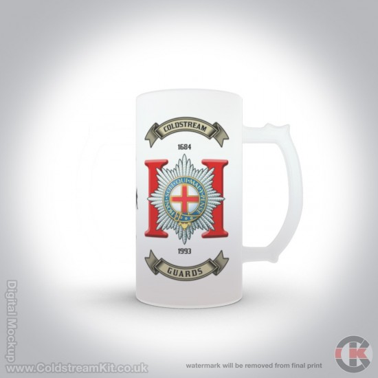 2nd Battalion Coldstream Guards 16oz Frosted Beer Stein (Military Insignia)
