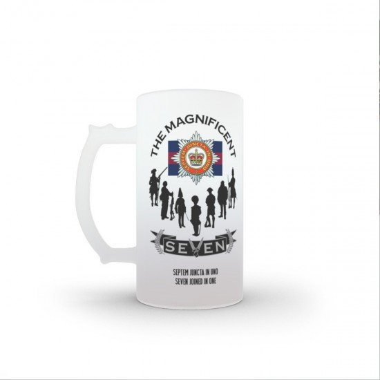 The Magnificent Seven, The Household Division, 16oz Frosted Beer Stein