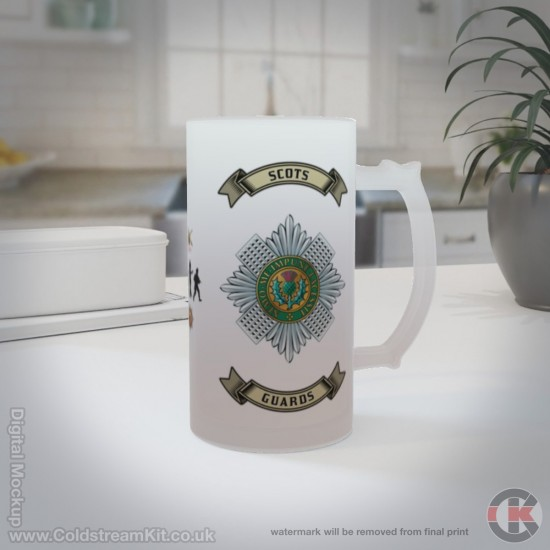 Scots Guards 16oz Frosted Beer Stein (Military Insignia)
