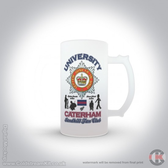 University of Caterham 16oz Frosted Beer Stein (Military Insignia)