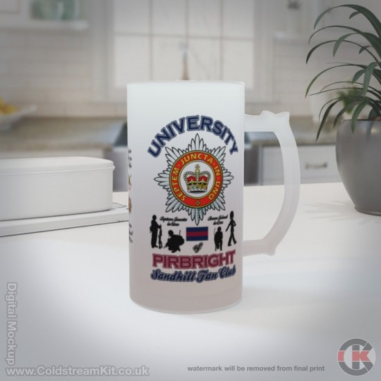 University of Pirbright 16oz Frosted Beer Stein (Military Insignia)