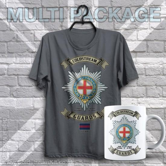 Mug & TShirt Package, Retro Coldstream Guards Design
