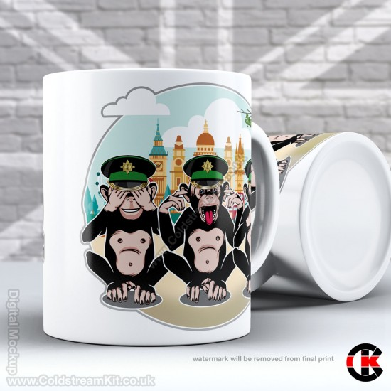 3 Wise Monkeys, Irish Guards - See, Hear, Speak no Evil (11oz Mug)