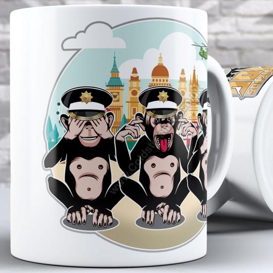 3 Wise Monkeys, Coldstream Guards - See, Hear, Speak no Evil (11oz Mug)