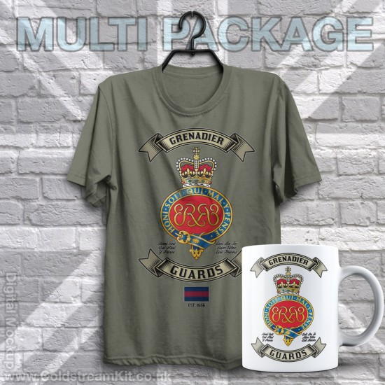 Mug & TShirt Package, Retro Grenadier (Cypher) Guards Design