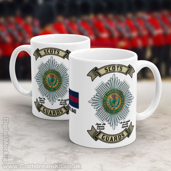 Mug & TShirt Package, Retro Scots Guards Design