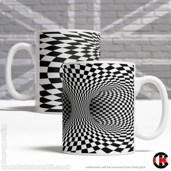 Optical Illusion Mug Collection, weird but extremely satisfying - Design T (11oz Mug)