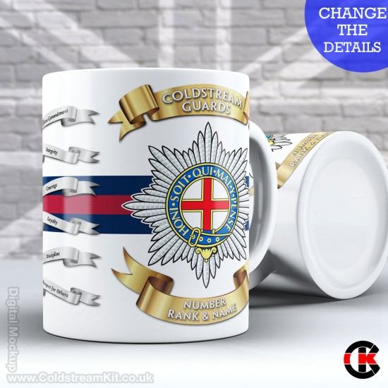 Personalised Mug, Coldstream Guards (11oz Mug)