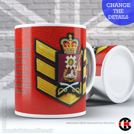 Guards Tunic Rank Mug, (CSgt) Colour Sergeant, Scots Guards FREE Personalisation (11oz Mug)