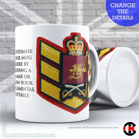 Guards Tunic Rank Mug, (CSgt) Colour Sergeant, Welsh Guards FREE Personalisation (11oz Mug)