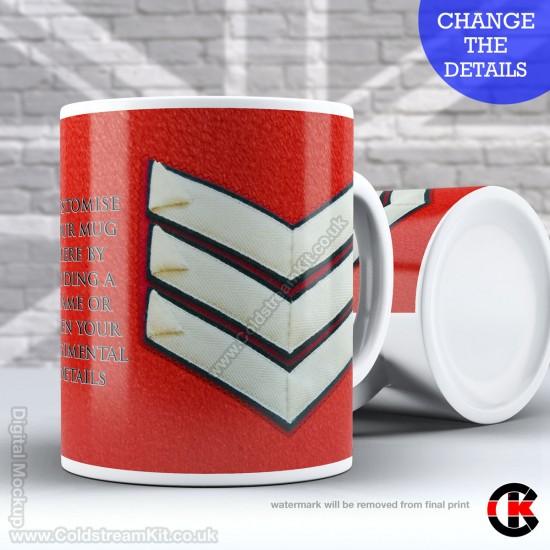 Guards Tunic Rank Mug, (LSgt) Lance Sergeant, FREE Personalisation (11oz Mug)