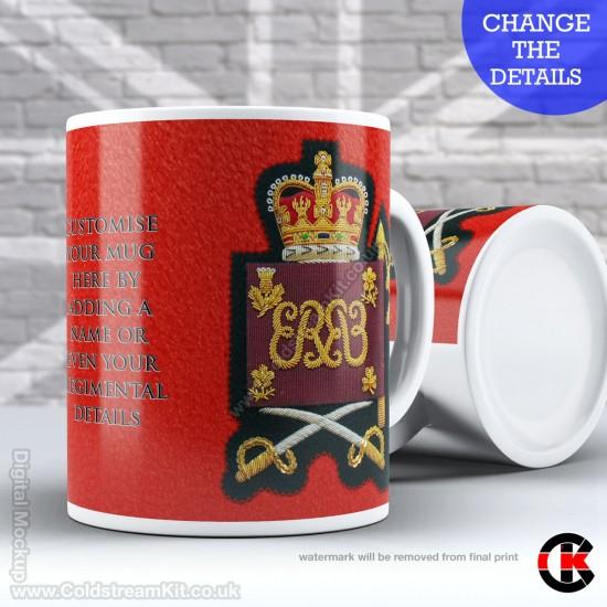 Guards Tunic Rank Mug, (WO2) Warrant Officer, Grenadier Guards FREE Personalisation (11oz Mug)