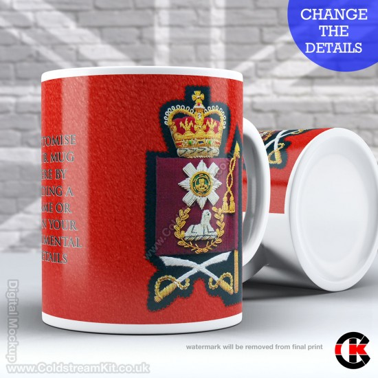 Guards Tunic Rank Mug, (WO2) Warrant Officer, Scots Guards FREE Personalisation (11oz Mug)
