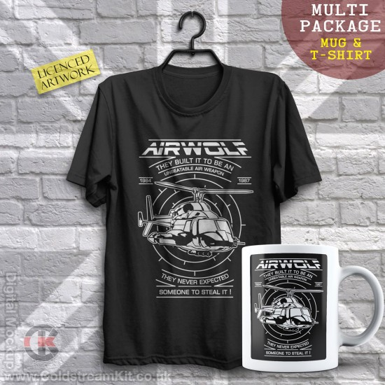 Multi-Package (save over £5) Airwolf (Mug & T-Shirt Package) 20% off!