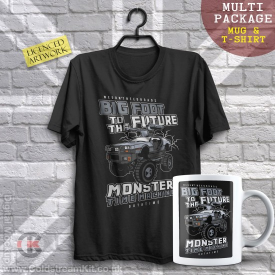 Multi-Package (save over £5) Big Foot to the Future  (Mug & T-Shirt Package) 20% off!