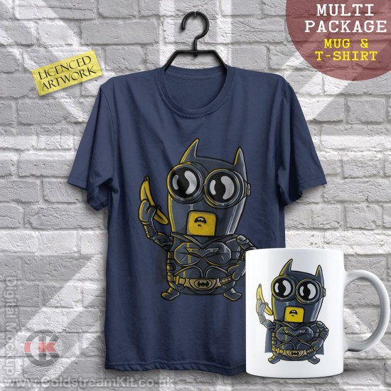 Multi-Package (save over £5) Batman Minion, Mashup (Mug & T-Shirt Package) 20% off!