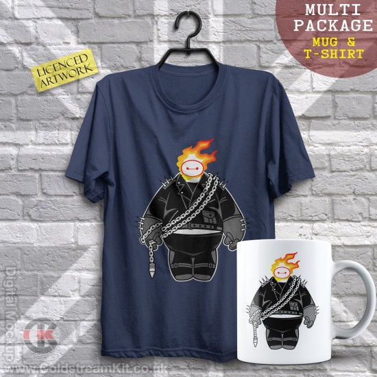 Multi-Package (save over £5) Baymax Ghost Rider, Mashup (Mug & T-Shirt Package) 20% off!