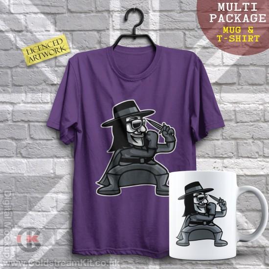 Multi-Package (save over £5) V for Vendetta Fighter, Mashup (Mug & T-Shirt Package) 20% off!