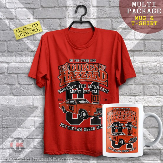 Multi-Package (save over £5) The Dukes of Hazzard (Mug & T-Shirt Package) 20% off!