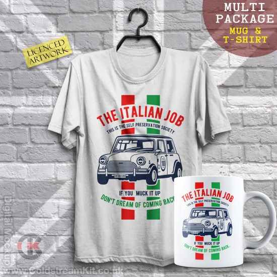 Multi-Package (save over £5) The Italian Job (Mug & T-Shirt Package) 20% off!