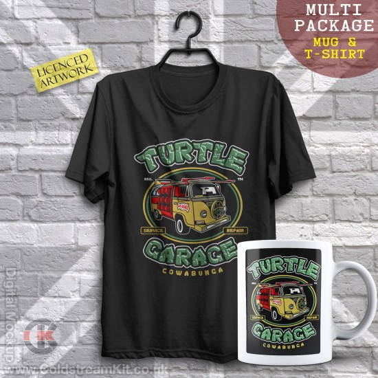 Multi-Package (save over £5) Turtle Garage (Mug & T-Shirt Package) 20% off!