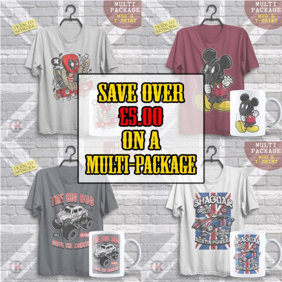 Multi-Package (save over £5) Batman Monster Truck (Mug & T-Shirt Package) 20% off!