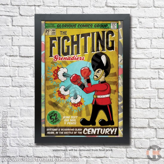 Poster Print, Fighting Guards, Grenadier Guards, A4, A3, A2 Framed or Unframed