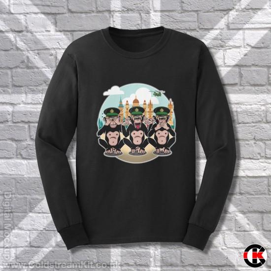 3 Wise Monkeys, Irish Guards - See, Hear, Speak no Evil, Sweatshirt