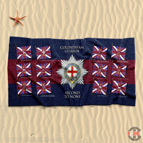 Beach Towel, Company Buntings, Coldstream Guards 160cm by 80cm