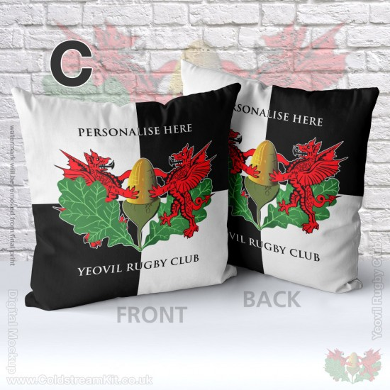 40cm by 40cm Cushion (with inner) - Yeovil Rugby Club (FREE Personalisation)