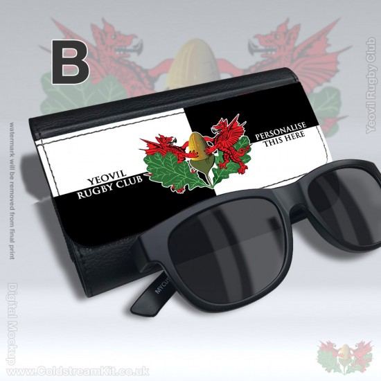 Faux Leather Sunglasses/Glasses Case - Yeovil Rugby Club (FREE Personalisation)