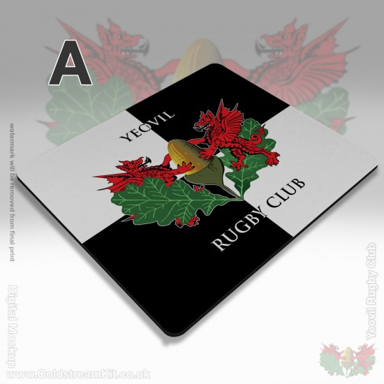 Mousemat Rectangle, 190 x 230 x 5 mm - Yeovil Rugby Club (FREE Personalisation)
