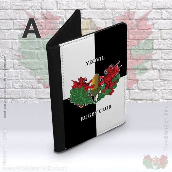 Faux Leather Passport Cover - Yeovil Rugby Club (FREE Personalisation)