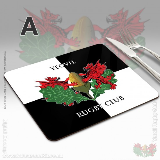 Hardboard Place Mats 191 x 229mm (set of 4) - Yeovil Rugby Club (FREE Personalisation)