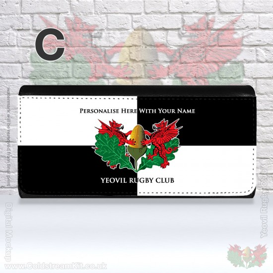Ladies 3-Fold Purse with Zip & Card Card Holders - Yeovil Rugby Club (FREE Personalisation)