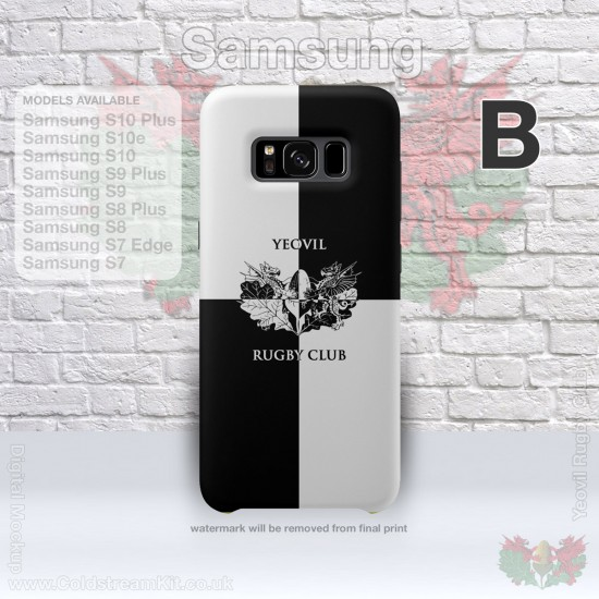 Samsung Phone Cover - 3D Print Tough Case, - Yeovil Rugby Club (FREE Postage & Personalisation)