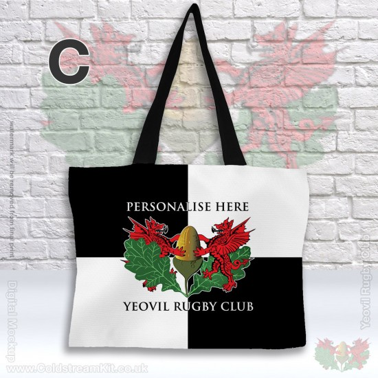 Tote Bag, Poly Canvas Shopping Bag 42 x 49 cm - Yeovil Rugby Club (FREE Personalisation)