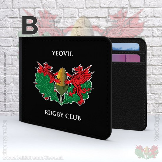 2 Fold Faux Leather Wallet - Yeovil Rugby Club (FREE Personalisation)
