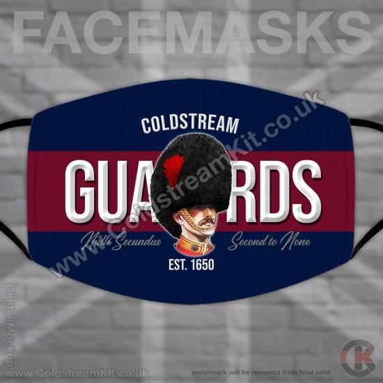 Coldstream Guards Bearskin, Regimental Face Mask (Non Medical Use) - FREE POSTAGE